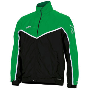 Mitre Primero Rain Jacket Black Emerald White