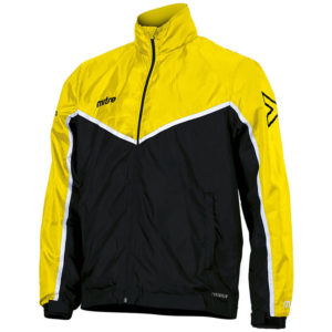 Mitre Primero Rain Jacket Black Yellow White