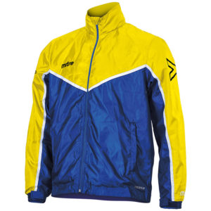 Mitre Primero Rain Jacket Royal Yellow White