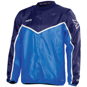 Mitre Primero Overhead Jacket Royal Navy White