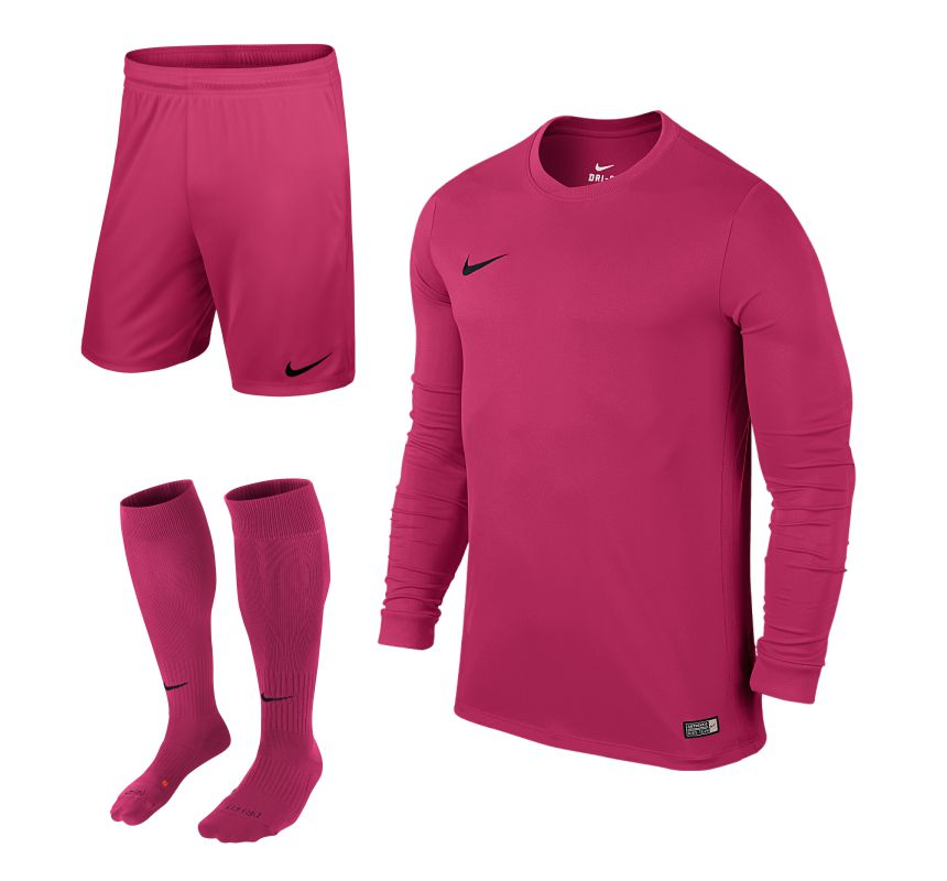 8a8955cd3 Nike Park VI Long Sleeve Kit Bundle Vivid Pink Set of 15 • RJM Sports