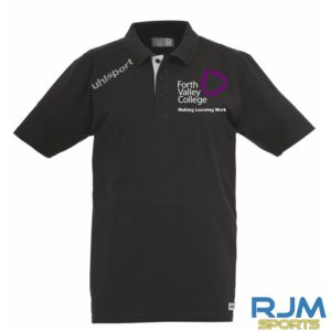 Forth Valley College Uhlsport Essential Polo Shirt Black White