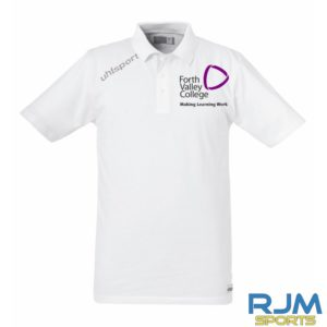 Forth Valley College Uhlsport Essential Polo Shirt White Black