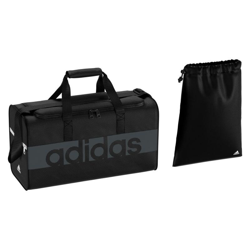 3d9f06b3b92a Adidas - Tiro Linear Teambag S Black   Dark Grey