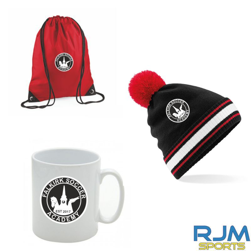 Falkirk Soccer Academy Combo Deal Mighty Mug, Bobble Hat & Draw String Bag