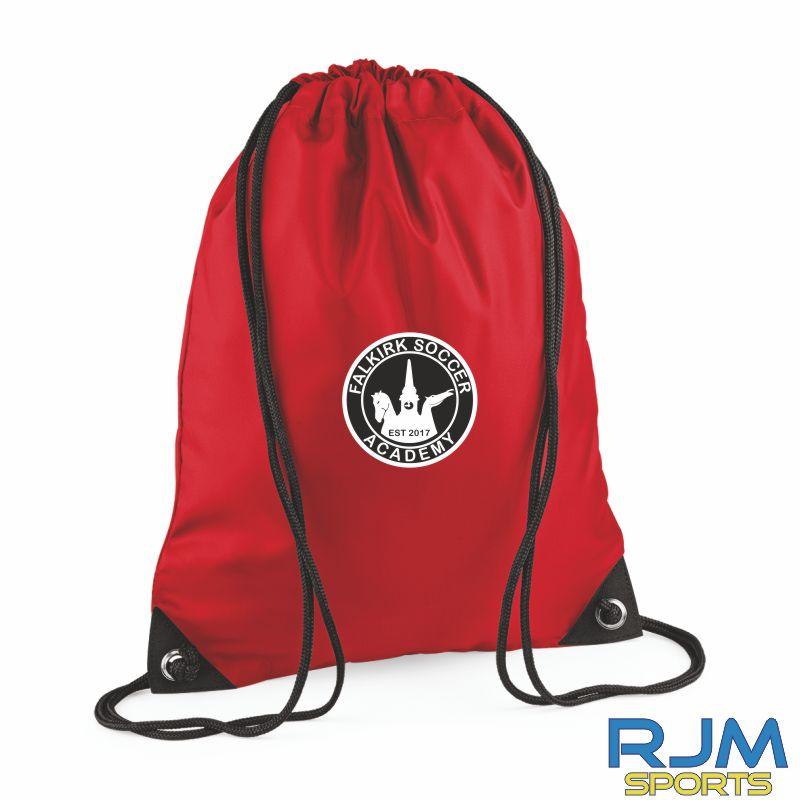 Falkirk Soccer Academy Draw String Bag Red