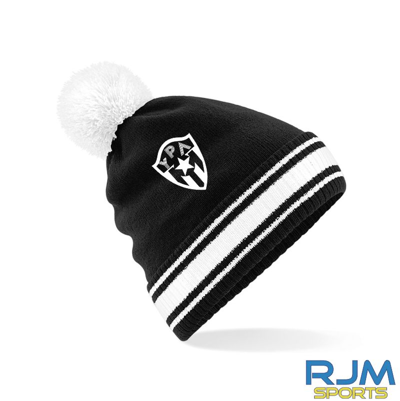 Young Pumas Bobble Hat Black White