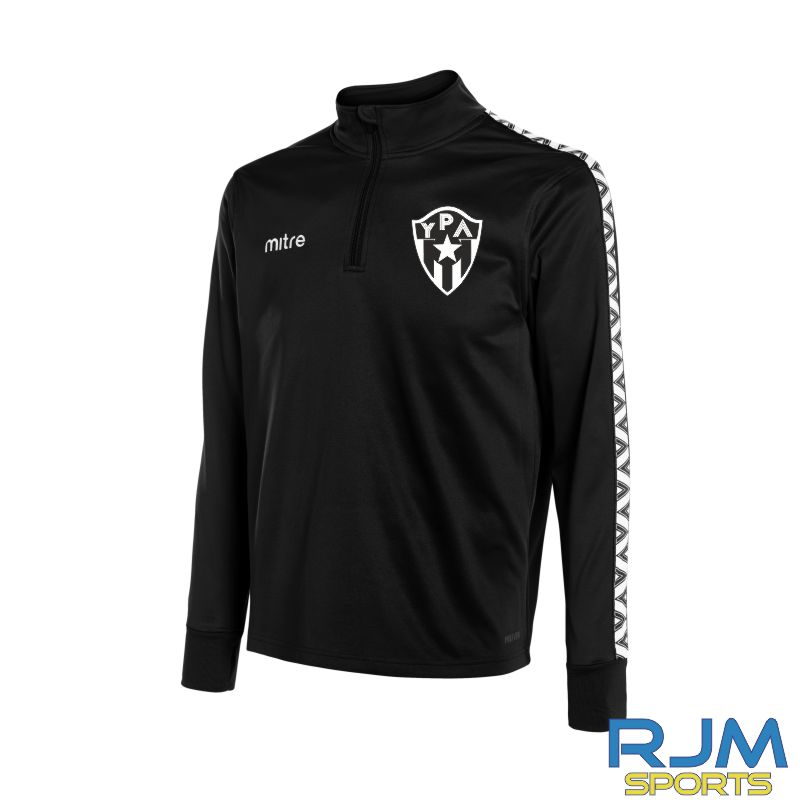 Young Pumas Mitre Delta Quarter Zip Top Black