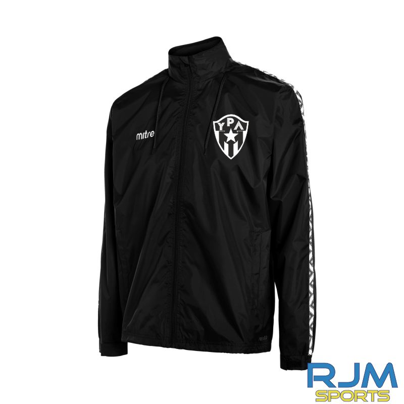 Young Pumas Mitre Delta Rain Jacket Black White
