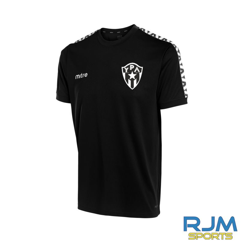Young Pumas Mitre Delta T-Shirt Black White