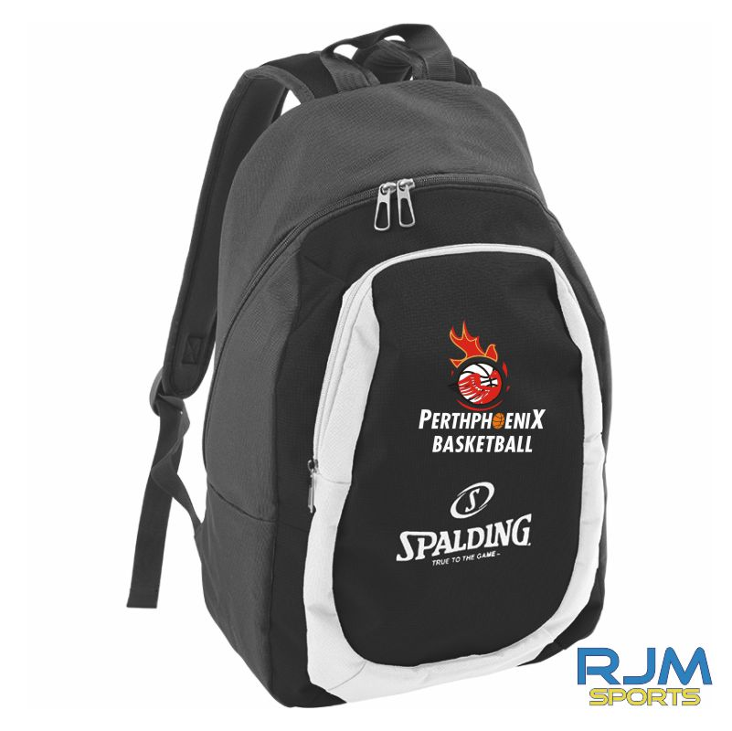 Perth Phoenix Spalding Backpack Essential Anthracite Black White
