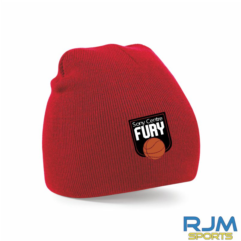 Falkirk Fury Beanie Hat Red