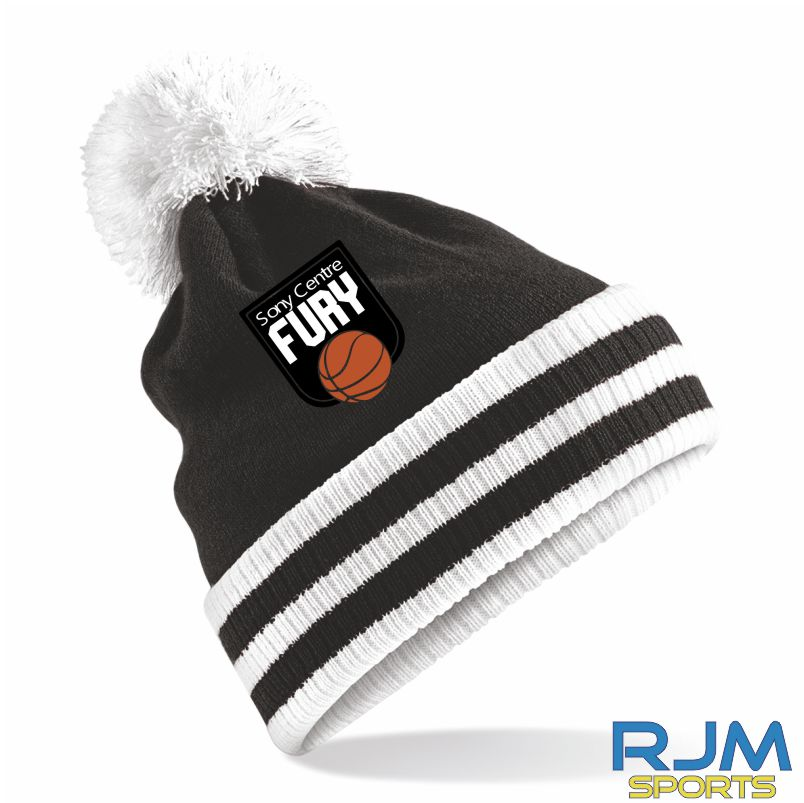Falkirk Fury Bobble Hat Black White