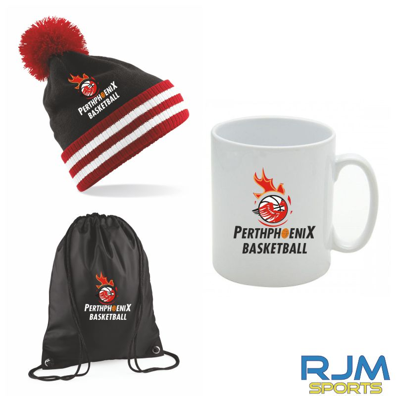 Perth Phoenix Combo Deal Mighty Mug, Bobble Hat & Draw String Bag Black