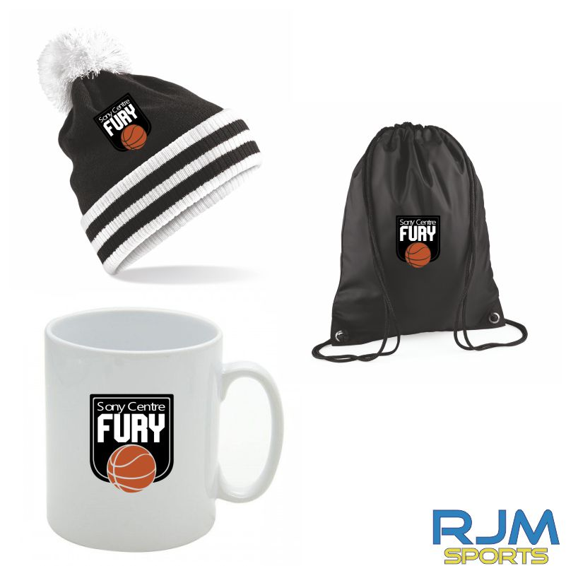 Falkirk Fury Combo Deal Mighty Mug, Bobble Hat & Draw String Bag Black Option