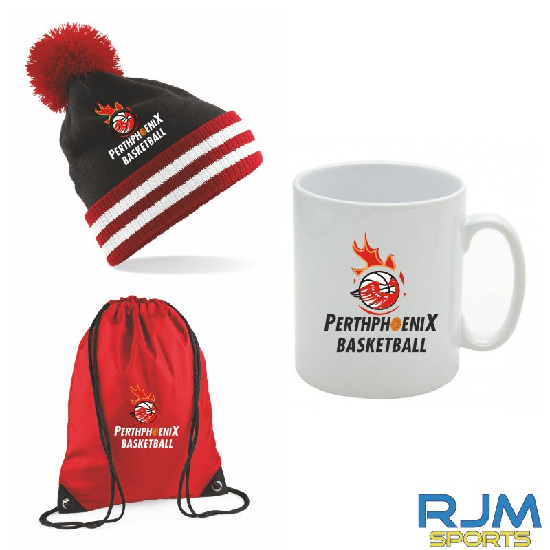 Perth Phoenix Combo Deal Mighty Mug, Bobble Hat & Draw String Bag Red