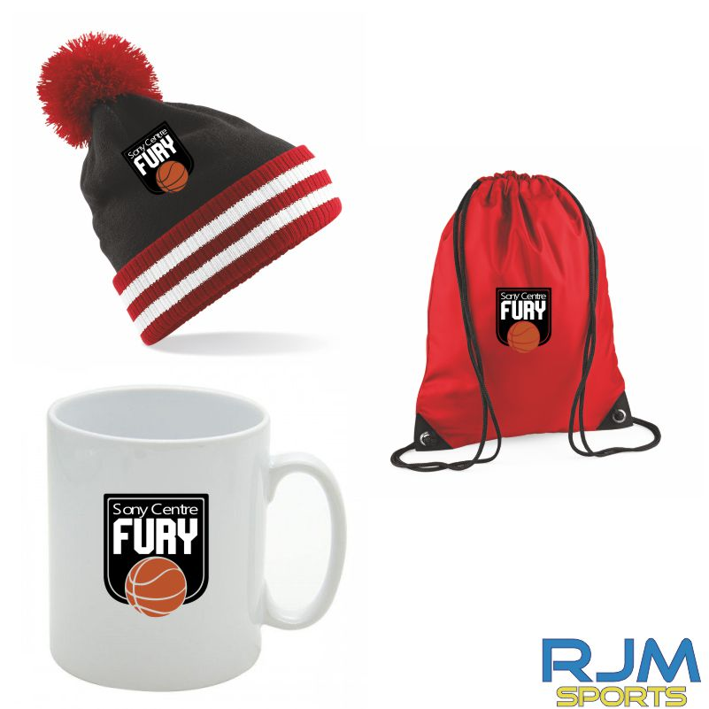 Falkirk Fury Combo Deal Mighty Mug, Bobble Hat & Draw String Bag Red Option