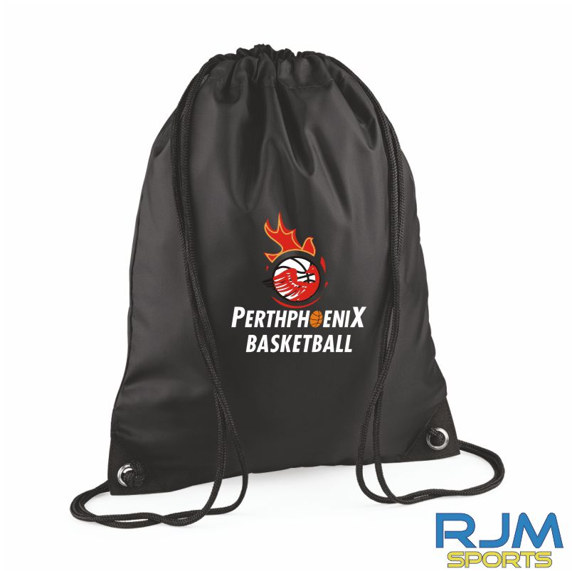 Perth Phoenix Draw String Bag Black