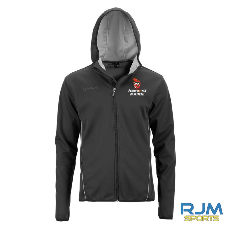 Perth Phoenix Hooded Jacket Black Silver Grey