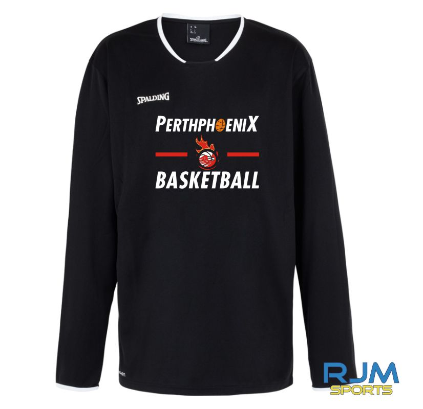 Perth Phoenix Move Long Sleeve Shooting Shirt Black White