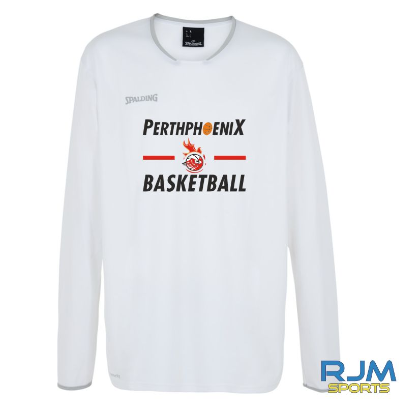 Perth Phoenix Move Long Sleeve Shooting Shirt White Silver Grey