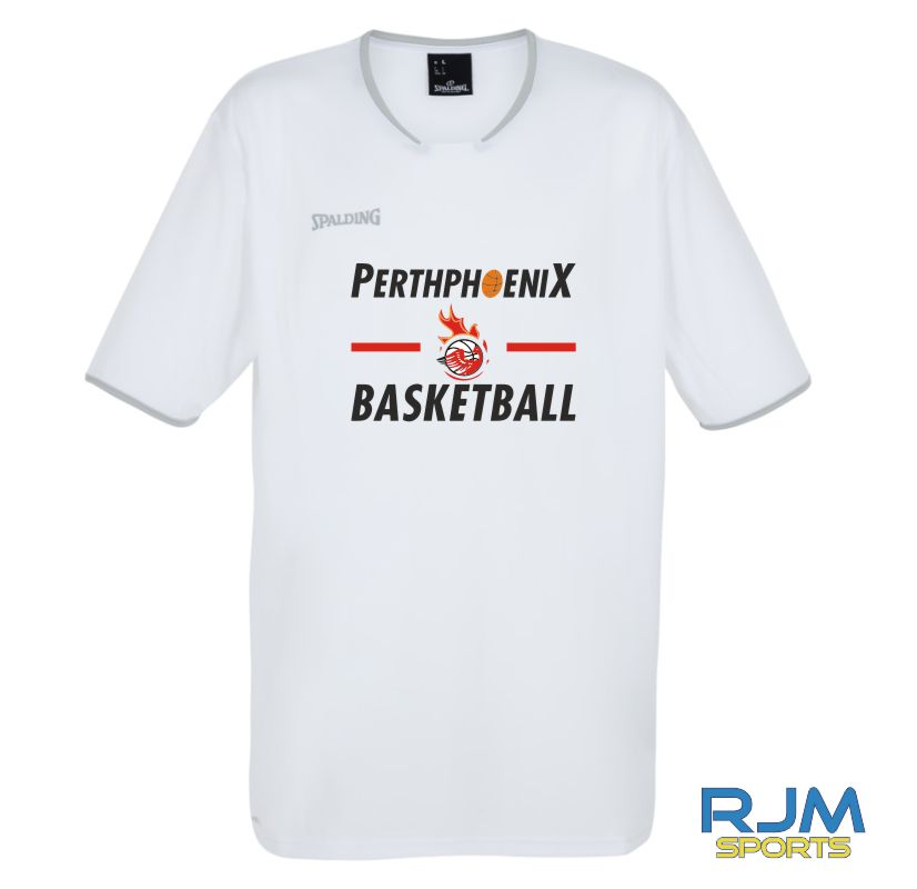 Perth Phoenix Move Short Sleeve Shooting Shirt White Silver Grey