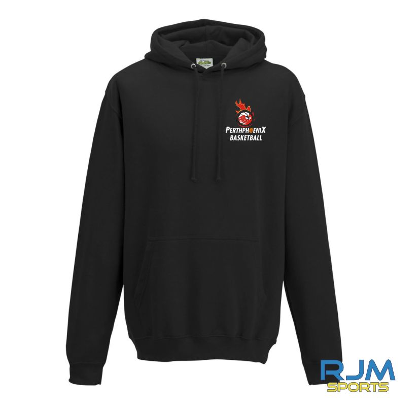 Perth Phoenix Pullover Hoody With Back Print Black