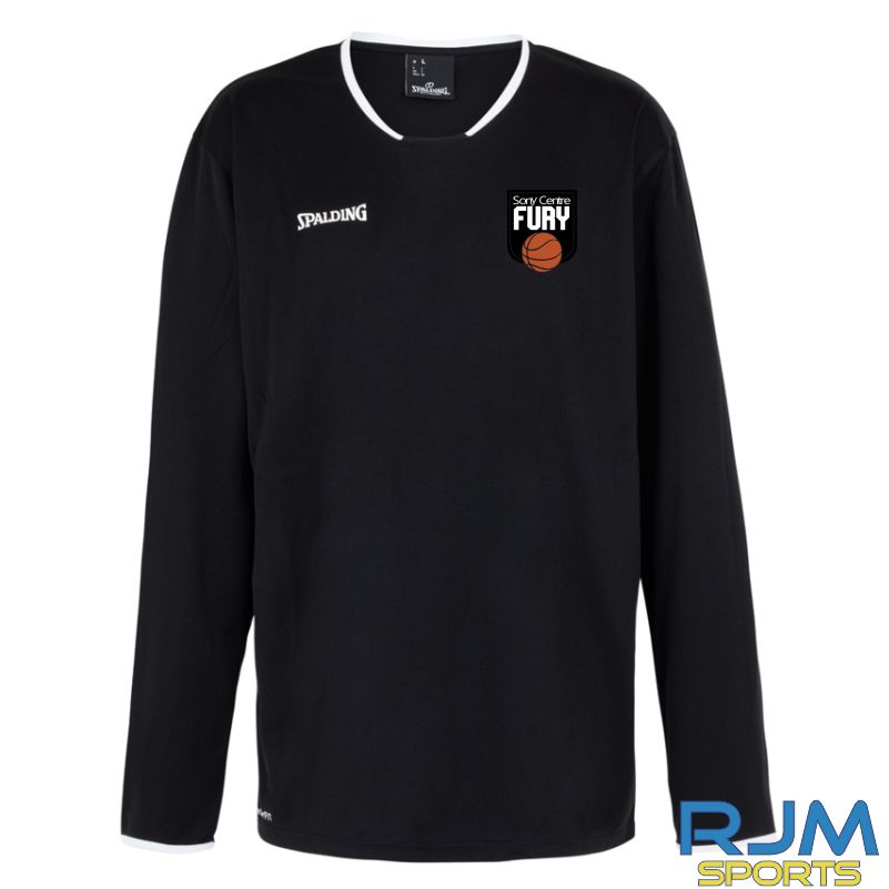 Falkirk Fury Move Long Sleeve Shooting Shirt Black White