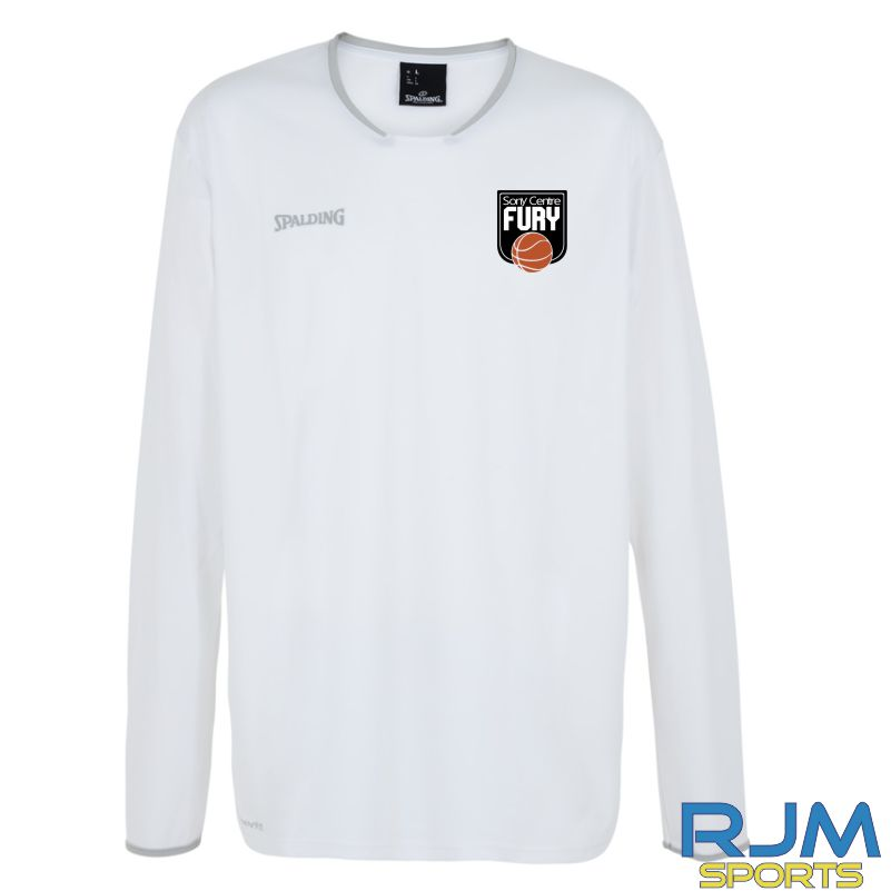 Falkirk Fury Move Long Sleeve Shooting Shirt White Silver Grey