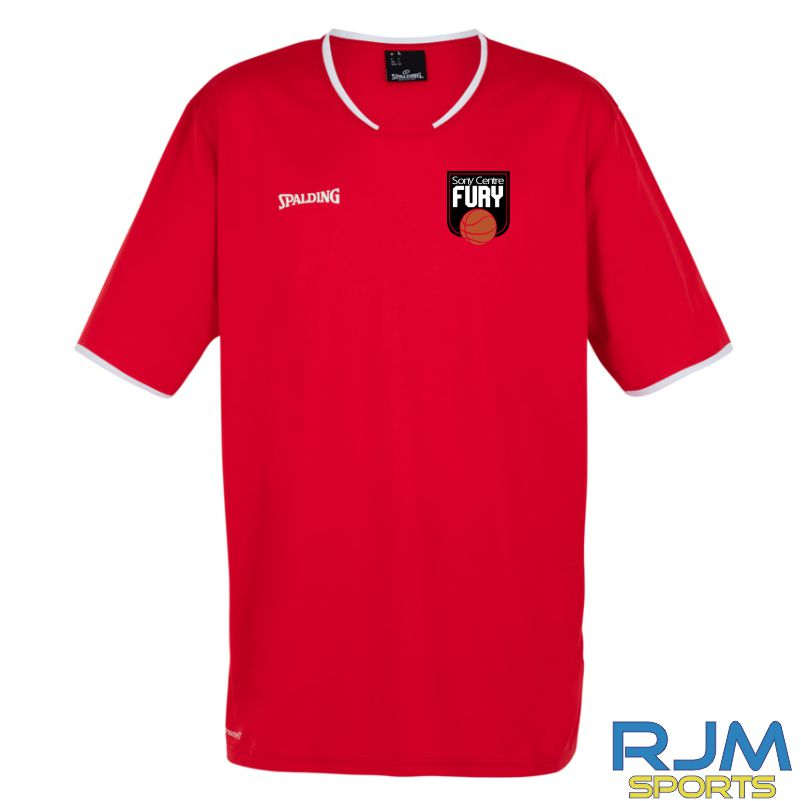 Falkirk Fury Move Short Sleeve Shooting Shirt Red White