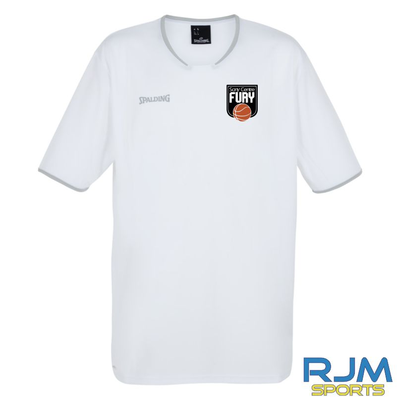 Falkirk Fury Move Short Sleeve Shooting Shirt White Silver Grey