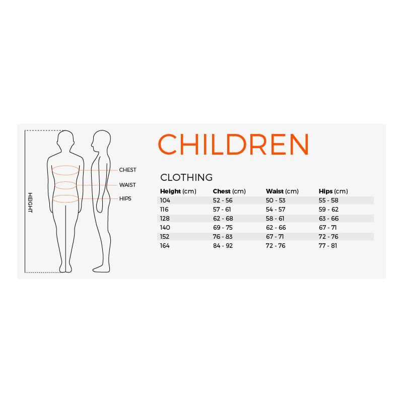 Stanno Children Size Guide