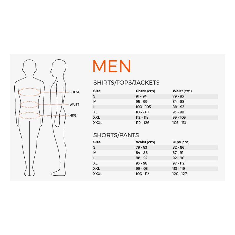 Stanno Men Size Guide