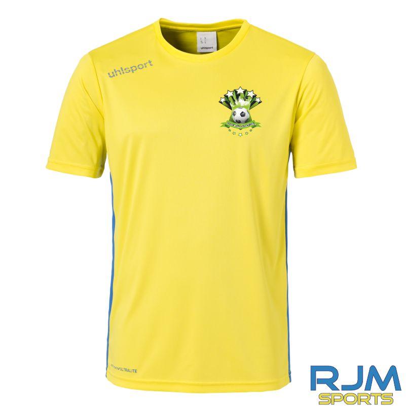 Soccer Stars Academy Uhlsport Essential Shirt Lime Yellow Azure Blue