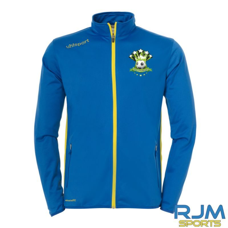 Soccer Stars Academy UhlsportEssential Classic Tracksuit Azure Blue Lime Yellow