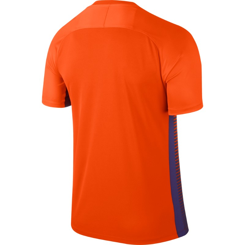 7b56d481 Nike Precision IV Jersey Short Sleeve Mens Safety Orange/Court Purple