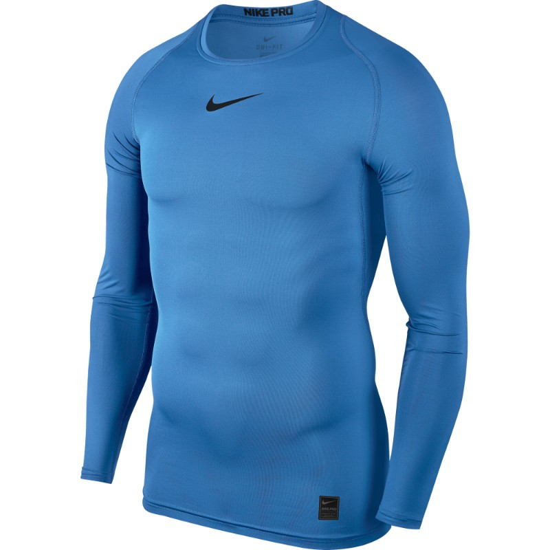 d98ba4ee Nike Pro Top Compression Crew Long Sleeve University Blue/Black ...