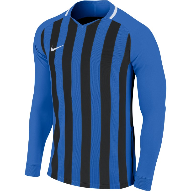 54442ea03 Nike Striped Division III Jersey Long Sleeve Youth Royal Blue Black ...