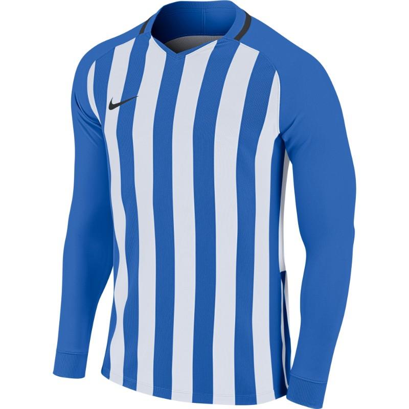 d5c56d2260b Nike Striped Division III Jersey Long Sleeve Mens Royal Blue White  Black (Black)