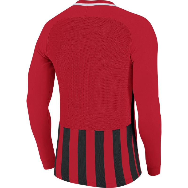 95b9fceb0 Nike Striped Division III Jersey Long Sleeve Youth University  Red Black White (White)
