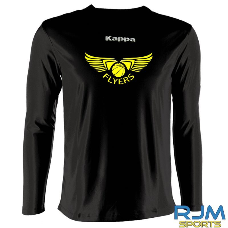 GF Kappa Carrara Polyester Long Sleeve T-Shirt Black