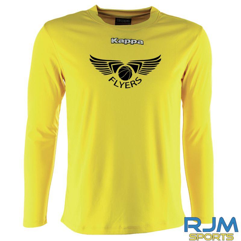 GF Kappa Carrara Polyester Long Sleeve T-Shirt Yellow