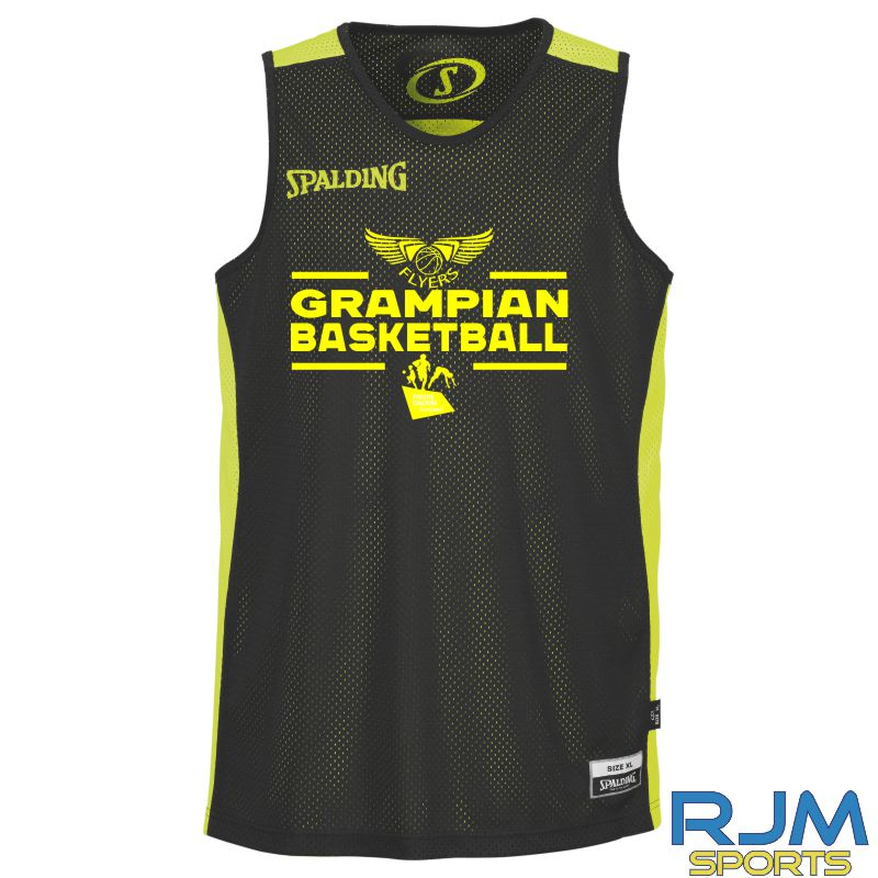 GF Spalding Essential Reversible Training Vest Black/Neon Yellow