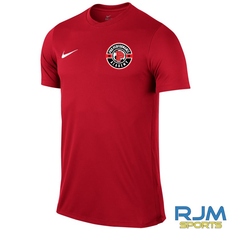 38069afe234a Pro Performance Academy Nike Park VI Short Sleeve Shirt University Red • RJM  Sports