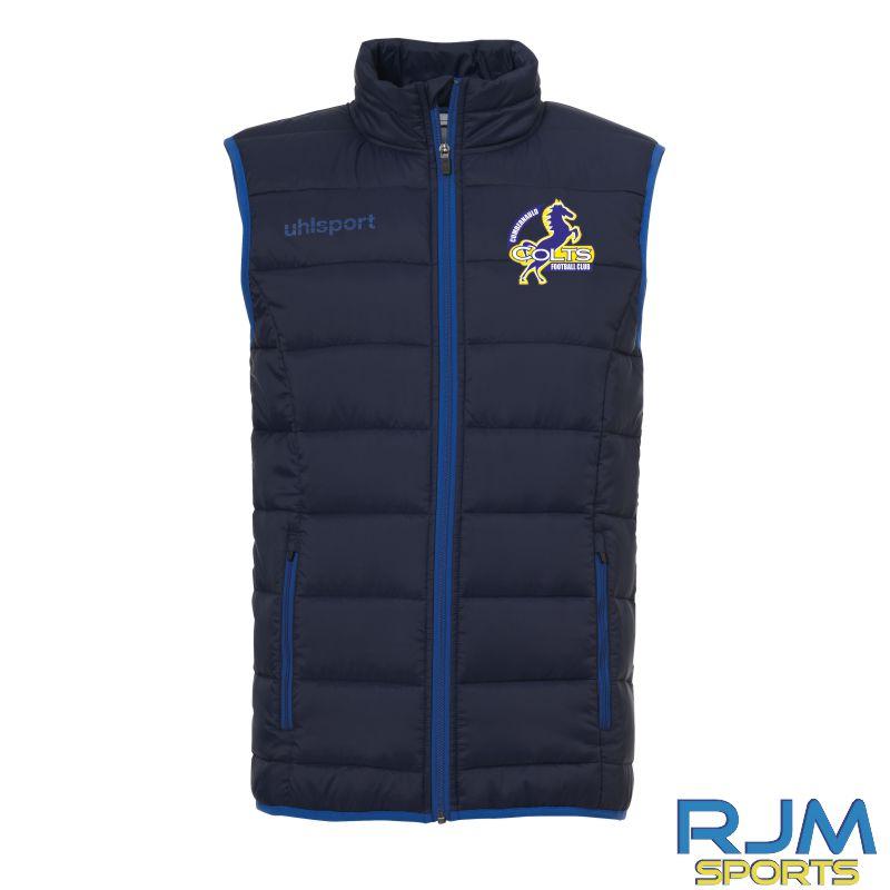 Cumbernauld Colts Uhlsport Essential Ultra Lite Down Vest Navy/Azure Blue