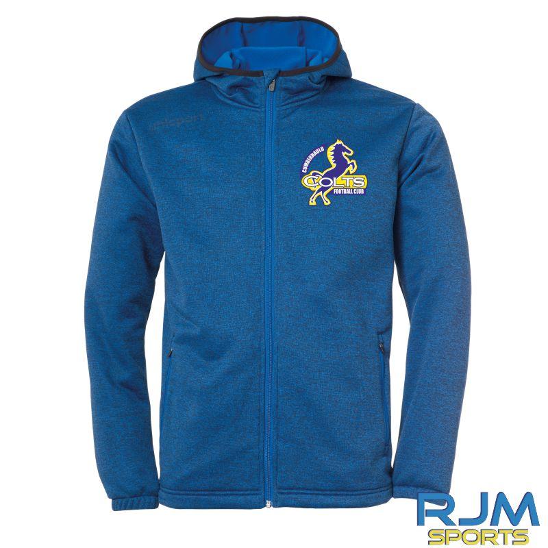 Cumbernauld Colts Uhlsport Essential Fleece Jacket Azure Blue Melange