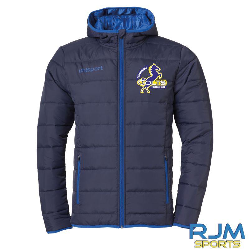 Cumbernauld Colts Uhlsport Essential Ultra Lite Down Jacket Navy/Azure Blue