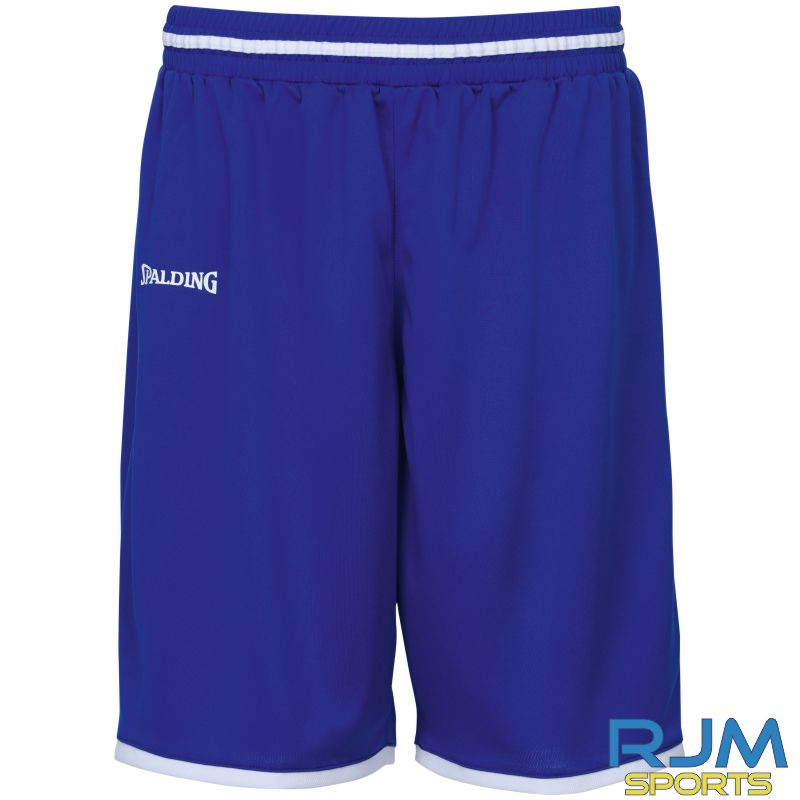 Glasgow City Basketball Away Spalding Move Shorts Royal White