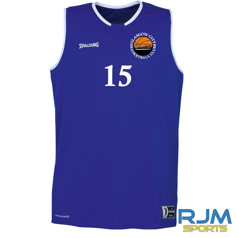 Glasgow City Basketball Away Spalding Move Tank Top Royal White
