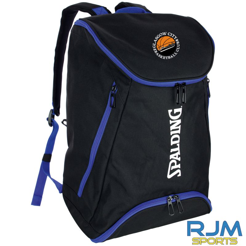 Glasgow City Basketball Spalding Backpack Black Royal